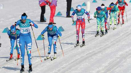 Women 30 Km cross-country skiing closes the races schedule